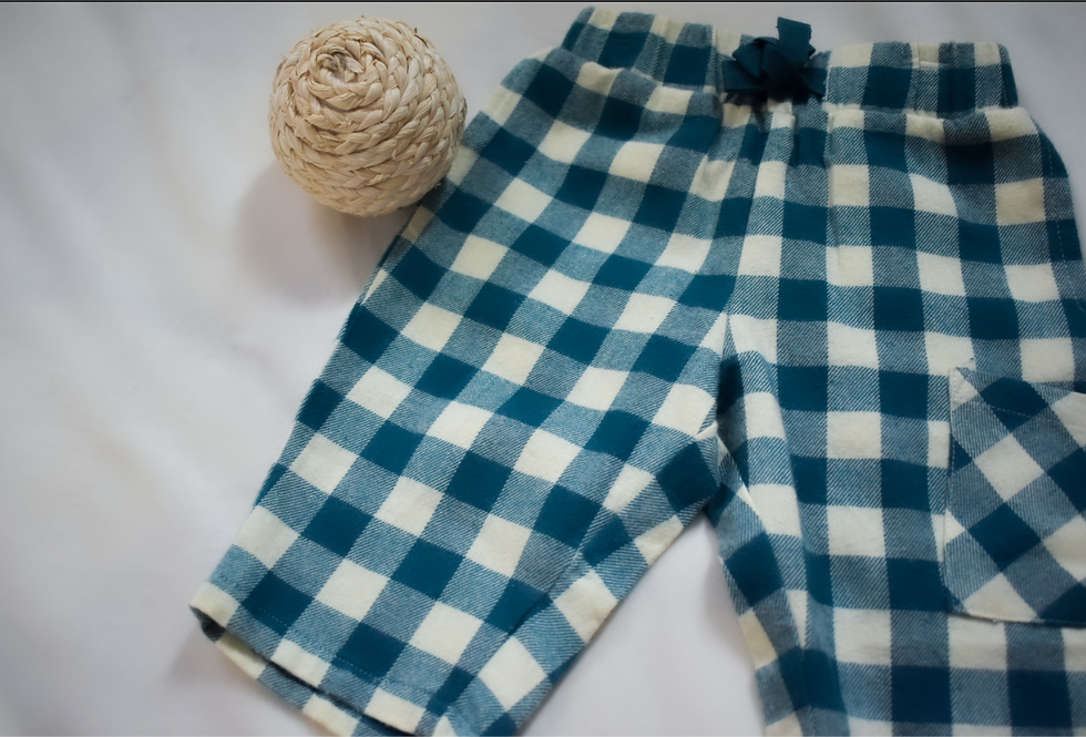 Blue Checkered Pant