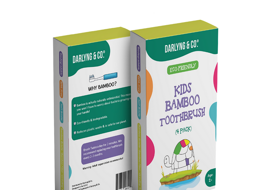 Kids Bamboo 4 Pack Toothbrush