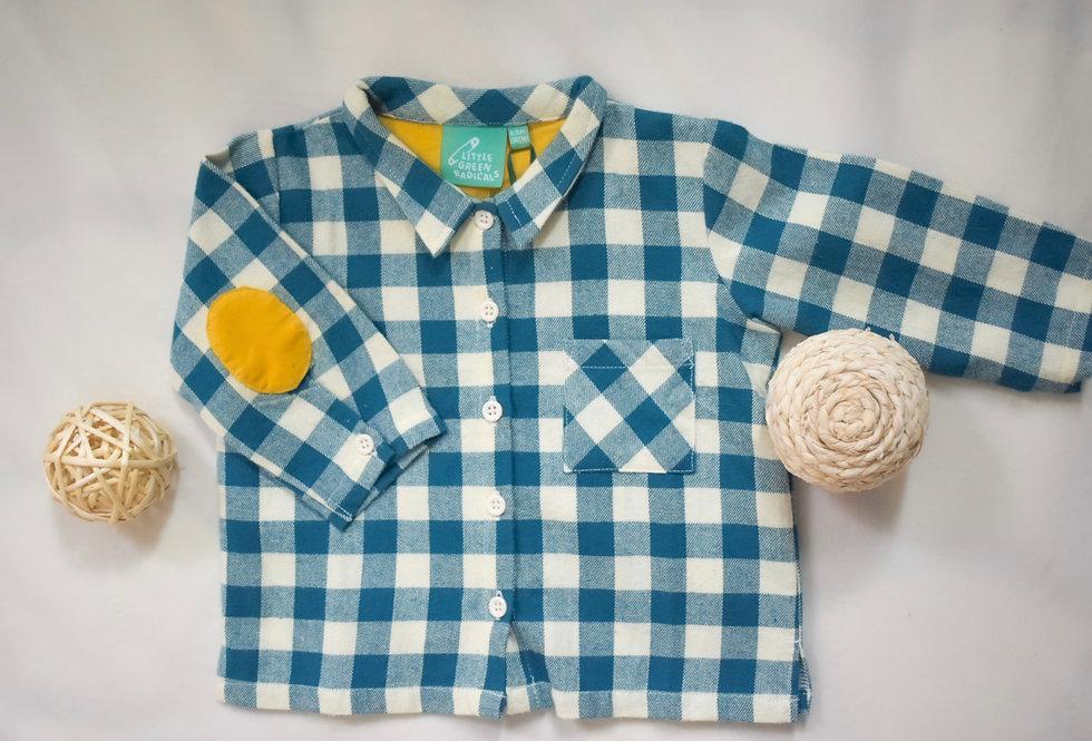 Blue Checkered Button Up Shirt