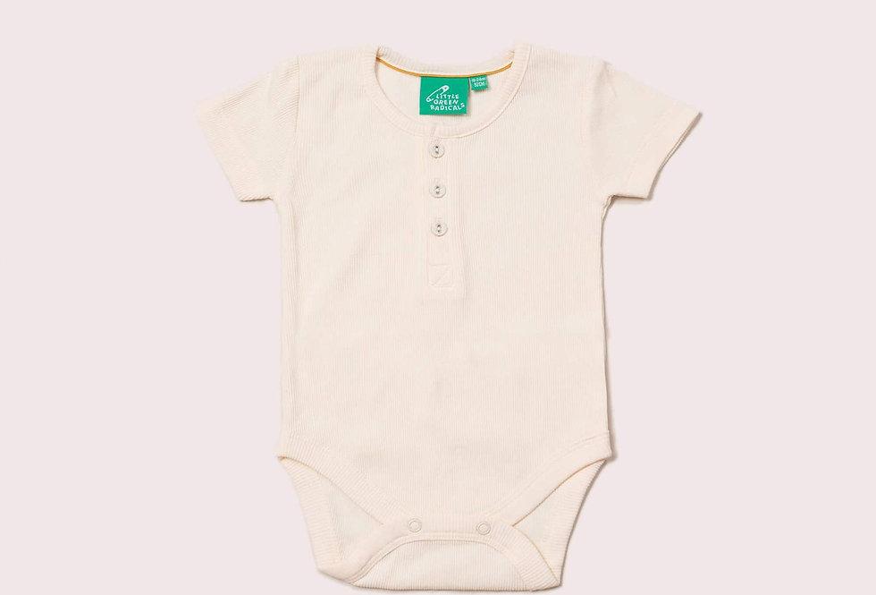 Ribbed Short Sleeve Baby Body