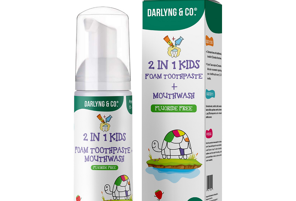 2-in-1 Kids Foam Toothpaste + Mouthwash