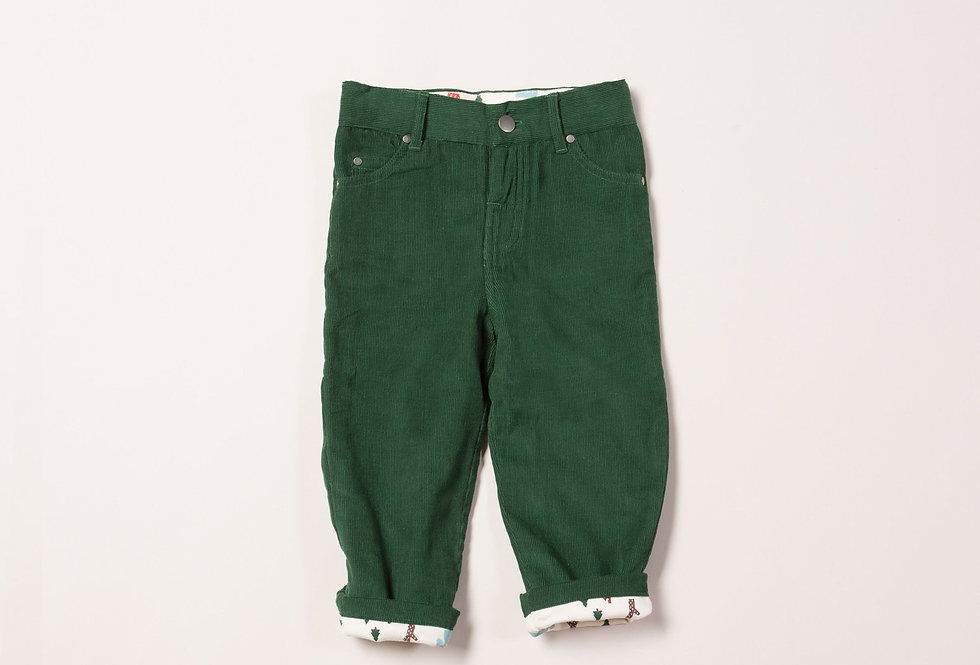 Soft Corduroy Woodland Green Jeans