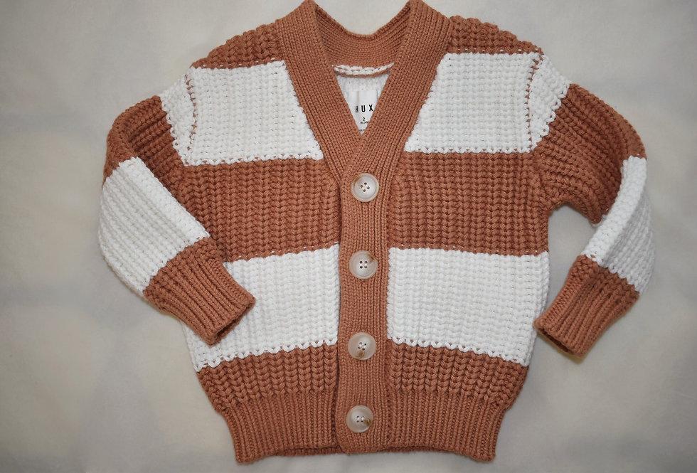 Stripe Chunky Cardigan