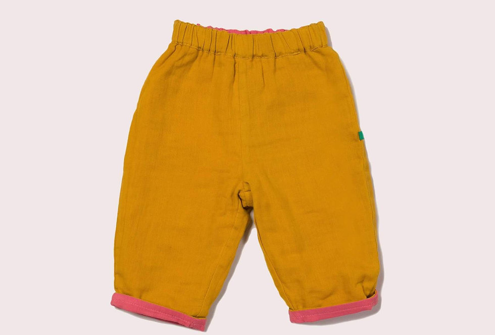 Pink & Gold Day After Day Reversible Trousers