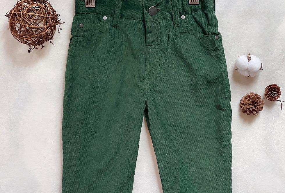 Soft Corduroy Woodland Green Jeans