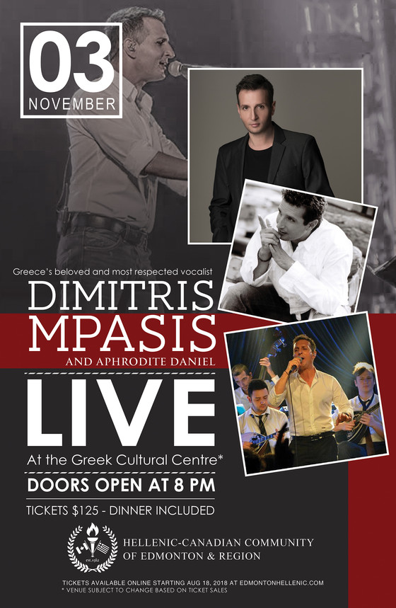 Dimitris Mpasis! LIVE in Edmonton!