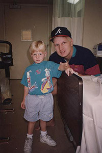 Tanner was just 3 when his father Craig (right) was diagnosed with cancer.