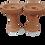 Thumbnail: Clay Hookah Bowl Lot of 2 Extra Large Premium Unglazed