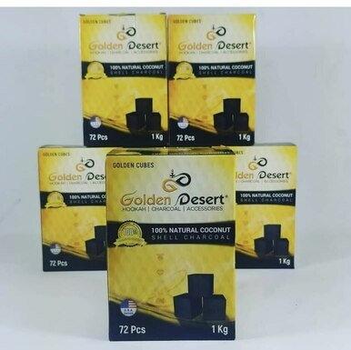 3x Golden desert hookah coconut charcoal   3 packs = 216 cubes