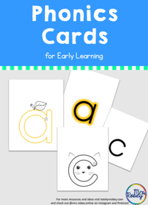 Phonics Cards for Early Learning of letter sounds