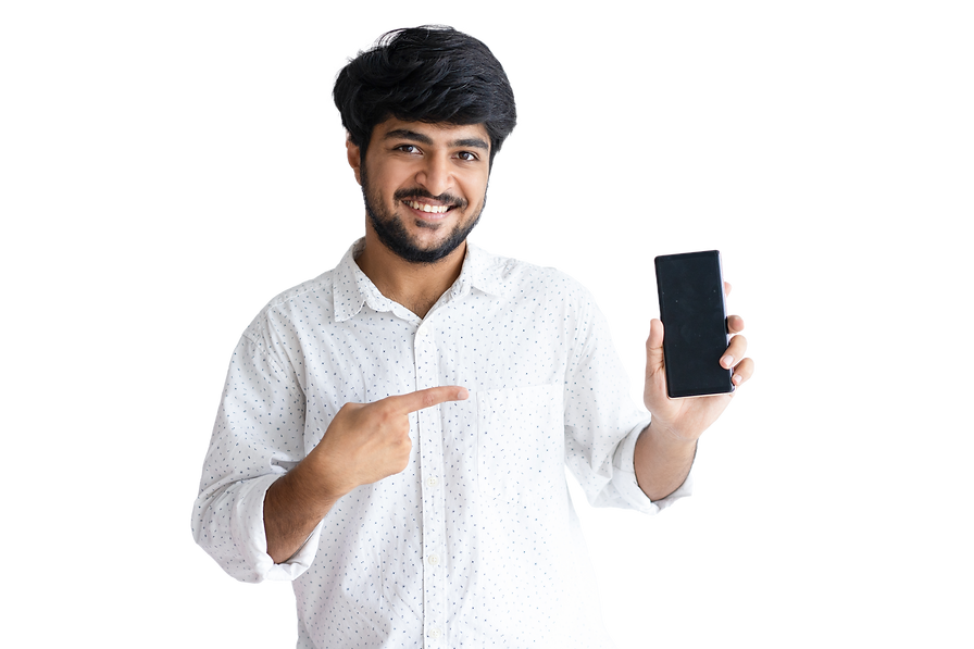smiling-young-man-pointing-smartphone-lo