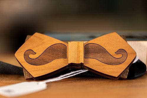 Inlay Mustache Bowtie