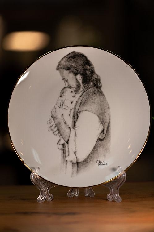 Christ & Child Close Plate