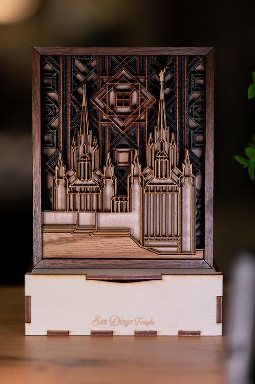 San Diego Temple Plaque