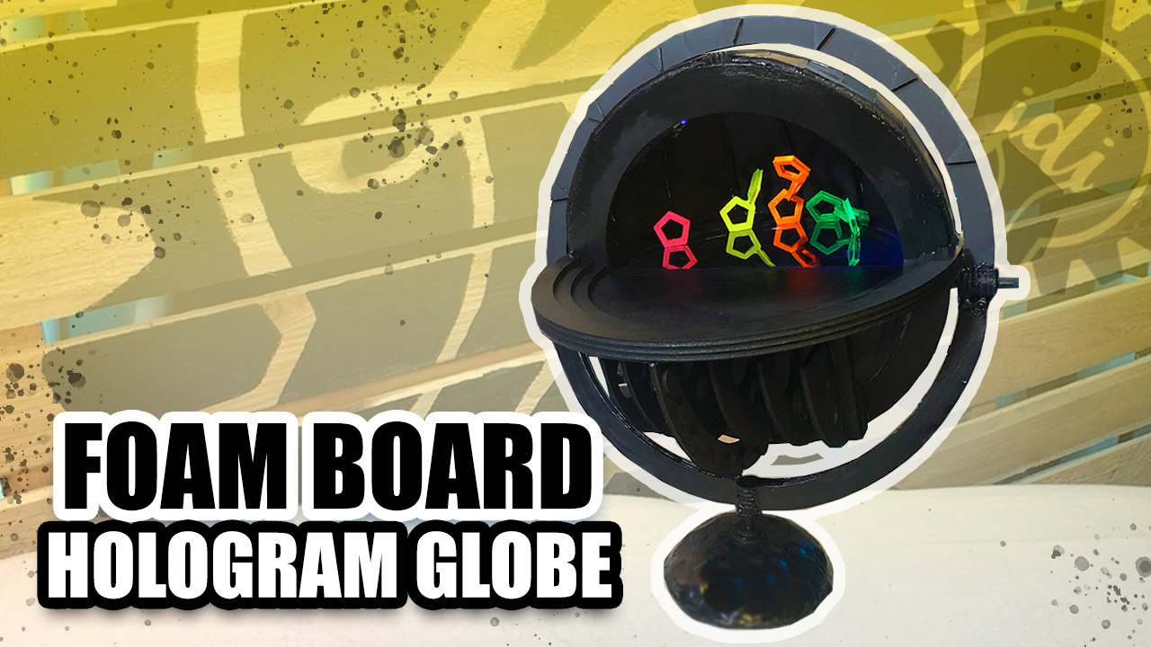 Foam Board Hologram Globe