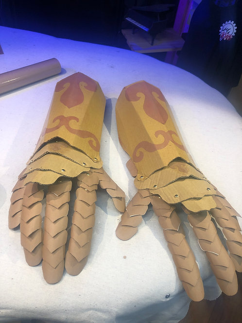 Giant Cardboard Gauntlet Instructions and Patterns