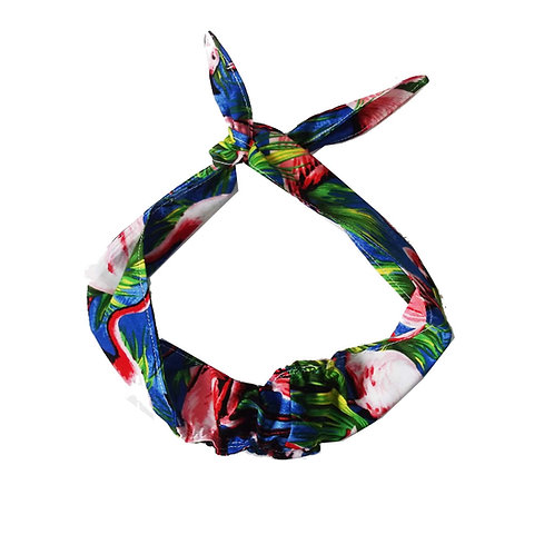 Kids Printed Retro Hair Bow / Wrap