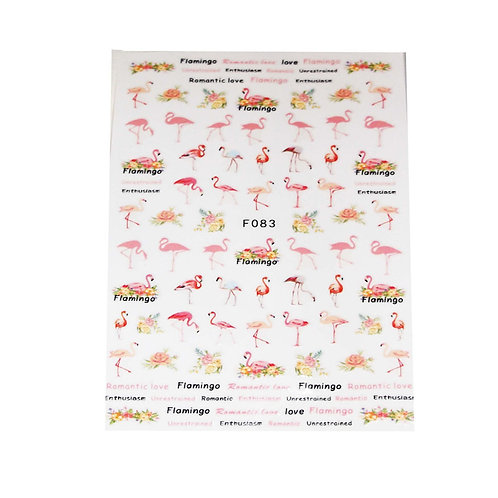 Pink Flamingo Nail Stickers
