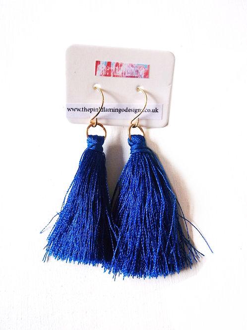 copy of Simple Tassel Drop Earrings Blue