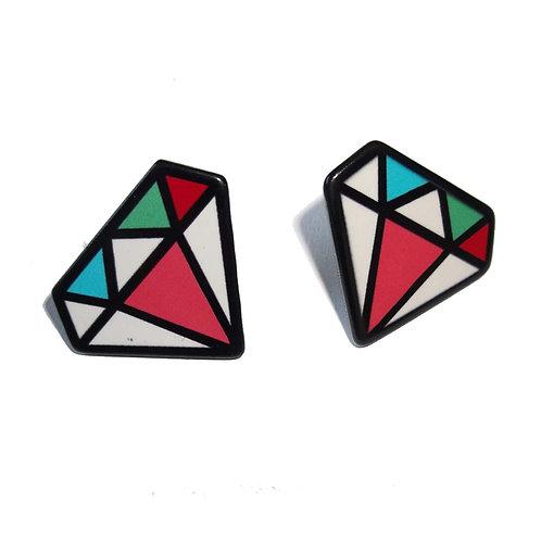 Diamond Stud Acrylic Earrings