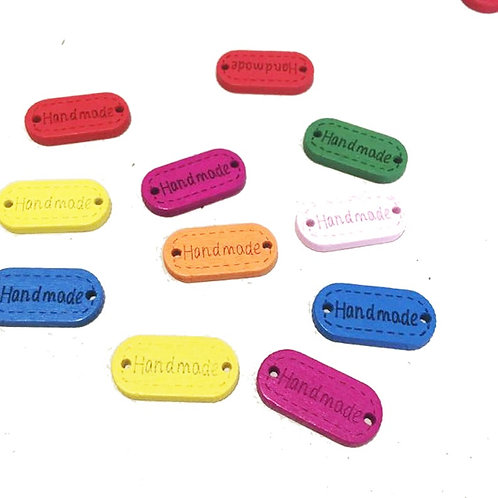 """Wooden """"Handmade"""" Sew on Tags"""