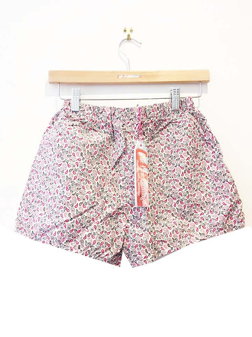 s4-6/6-8/8-10 Pretty Pink Paisley Cotton Shorts
