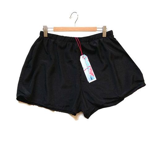 Black High Waisted Silky Shorts