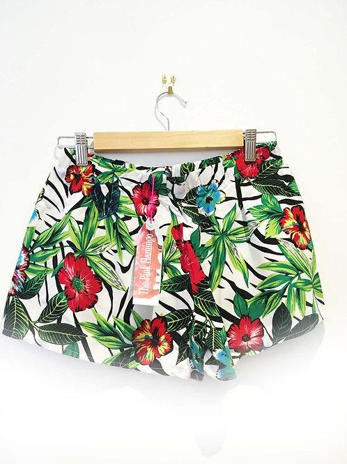 s 8 - 10 Jungle Print Viscose Basic Shorts