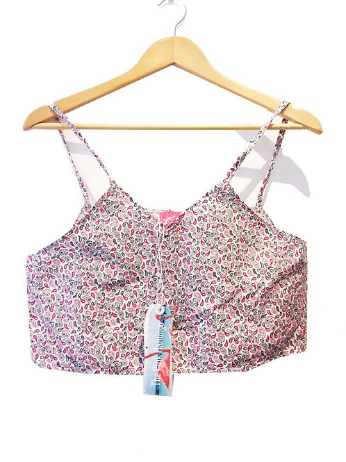 Pretty Pink Paisley Box Crop Top