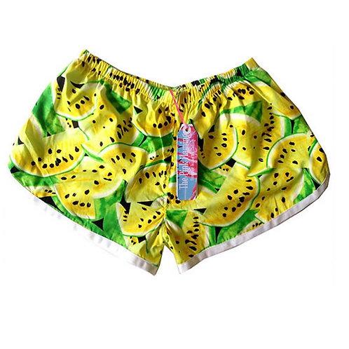Retro Yellow Watermelon Sports Shorts