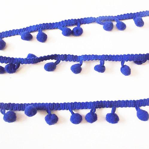 1M Royal Blue Pom Pom Trim 8mm Haberdashery
