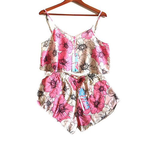 Floral Sketch Print Camisole and Shorts set