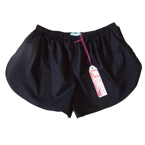 Plain Lightweight Cotton Sports Shorts - Thick Waistband