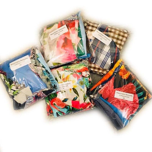 Mixed Packs of Fabric Remnants for Crafting or Upcycling
