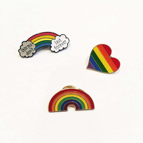 NHS Rainbow Pin Badges