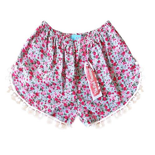 Pink / Floral Shorts - No Pom Poms