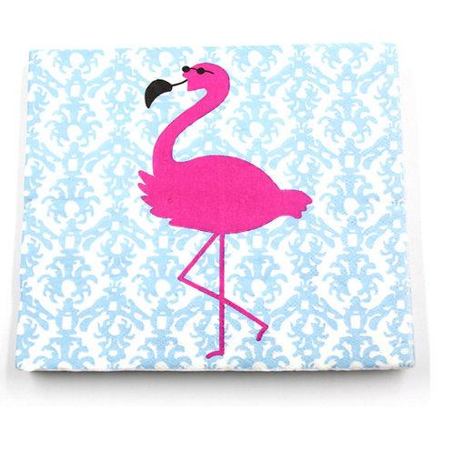 Pack of Flamingo Paper Printed Napkins