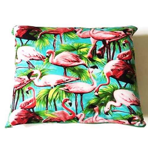 Retro Flamingo Print Cushion Cover - Made to Order