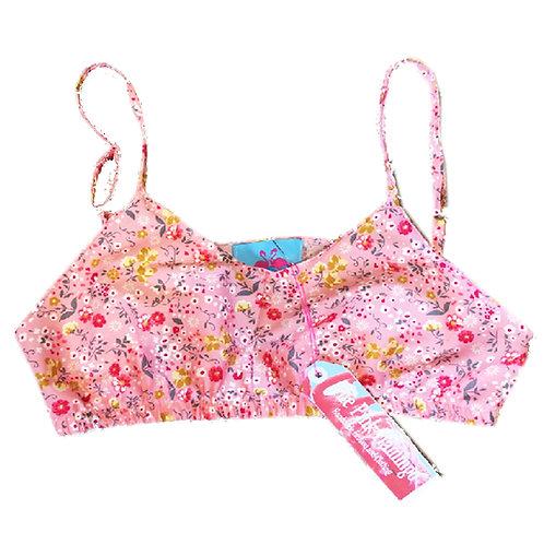 Pink Ditsy Floral Print Bralet