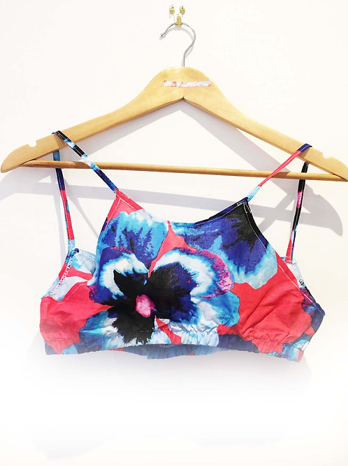 s 4 - 6Pink and Blue Bold Floral Bralet
