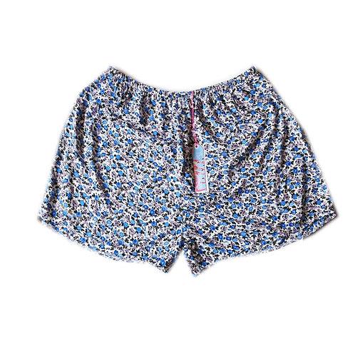 Lavender and Lilac Vintage Floral Highwaisted Shorts