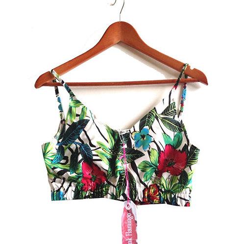 Tropical Jungle Leaf Print Bralet