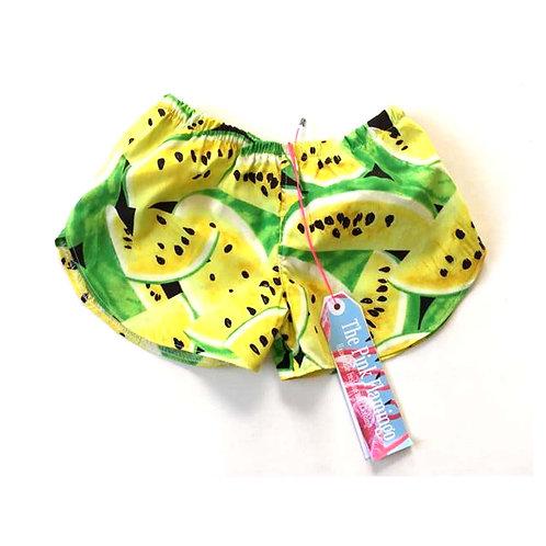 Yellow Watermelon Print Shorts