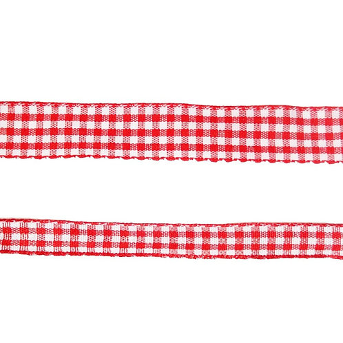 Red Gingham Craft Ribbon