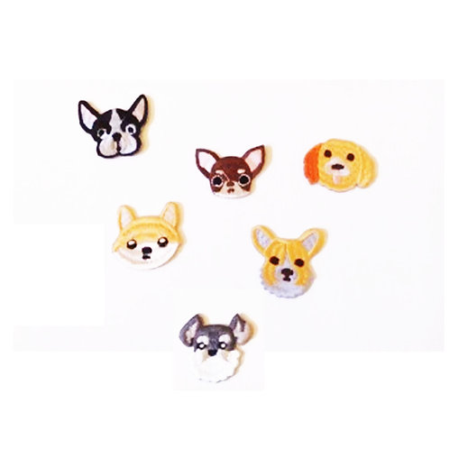 Cute Doggy Mix Pack of Iron on Patches