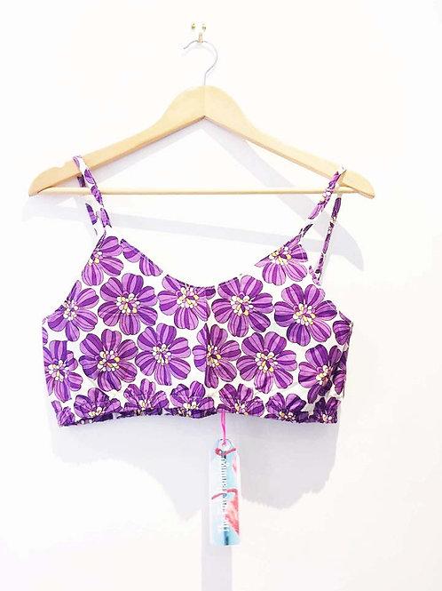 Purple Retro Floral Bralet