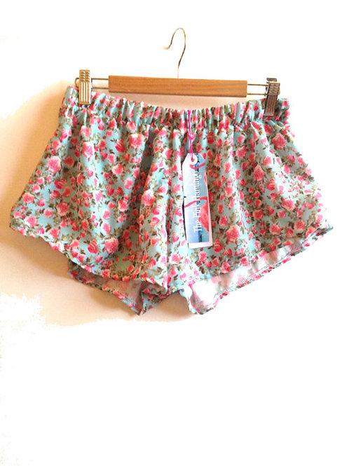 Pretty Vintage Rose Print Pyjama Shorts