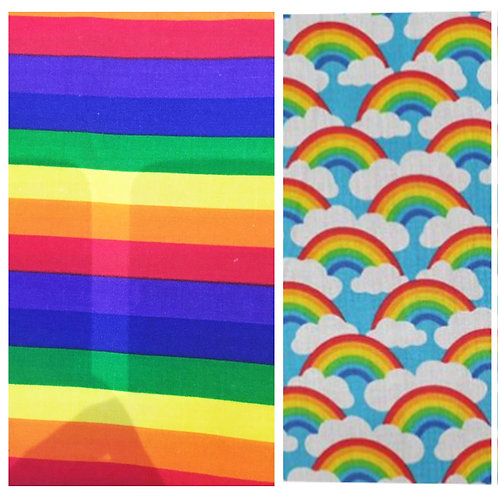 NHS Rainbow Print Adult Fabric Masks with Filter