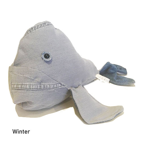 WINTER Handmade Upcycled Denim  Shark Plush for SEDNA Fundraise