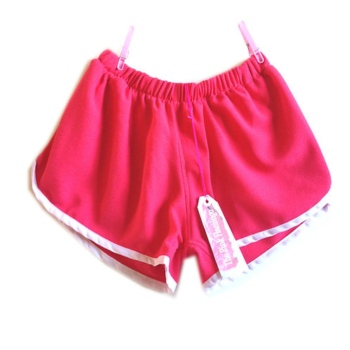 S10-12 Hot Pink Crepe Sports Shorts